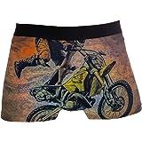 Jessgirl Boxer da Uomo Intimo Senza Tag Comfort Soft Color Motocross
