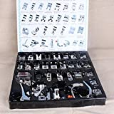 Rrimin 32 PCS Domestic Sewing Machine Foot Feet Snap On For Brother Singer Set