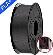 3D Printer Filament, PLA plus Filament 1.75mm, 3D Printer Filament PLA+, 1KG Black…