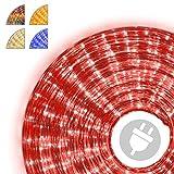 10m Microlichter Lichterschlauch Lichtschlauch rot – Innen- und Außenbereich –