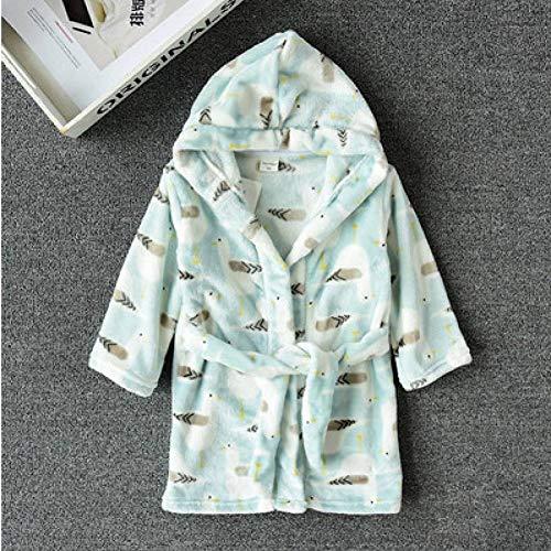 YMXYP Winter Flanell für Kinder, Langarm-Kapuzen-Kleidung, Kinderkleidung, Pyjamas für Jugendliche, Pyjamas für Kinder - 4t-kapuzen-handtuch