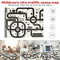 Tbyy Kids Play Mat City Road Buildings Parking Map Pad Game Educational Toddler Children