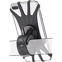 Sounce Bike Phone Mount/Holder, 360 Rotation Silicone Bicycle Phone Holder/Mount, Universal Motorcycle Handlebar Mount…