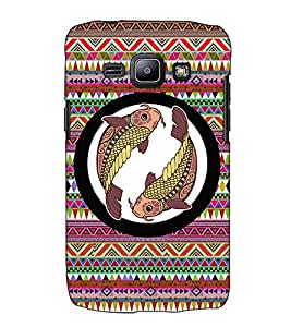 Fuson Designer Back Case Cover for Samsung Galaxy J1 (2015) :: Samsung Galaxy J1 4G (2015) :: Samsung Galaxy J1 4G Duos :: Samsung Galaxy J1 J100F J100Fn J100H J100H/Dd J100H/Ds J100M J100Mu (Meen designer pattern)