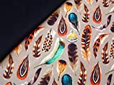 0,5m Canvas Federn beige 100% Baumwolle & 0,5m Canvas uni