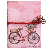 #4: Jaipuri Haat Vintage Bicycle Handmade Handicraft Diary Alongwith Pure Recycled Organic Handmade Flower Paper (18cm X 13 cm)(100 Pages)