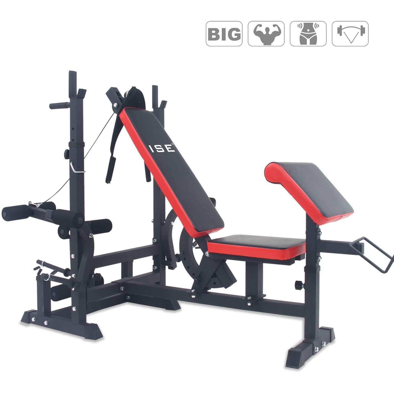 ISE 190x120x200 cm Professionnel Banc de Musculation Complet