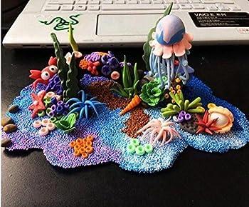Vi-go, Mini Styropor Bälle Für Schlamm, Tiny Schaum Perlen Für Floam, Für Diy Kreative Handwerk Hochzeit Und Party Decarations, 0,1-0,18 Zoll, 42000 Stück (8pack 8color) 6