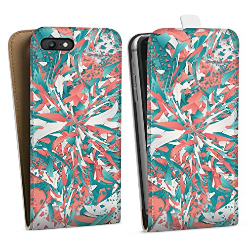 Apple iPhone X Silikon Hülle Case Schutzhülle Farben Explosion Kristalle Downflip Tasche weiß