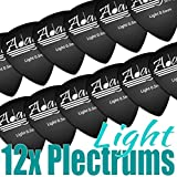 Adagio Guitar Picks / Plectrums Plecs Light Bag 12 by Adagio