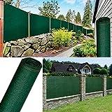 Probache - Brise Vue renforcé 1,5 x 10 m Vert 220 GR/m² Luxe Pro