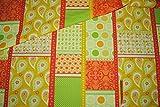 Unbekannt 1 m * 1,4 m Patchwork Stoff Baumwolle gelb grün