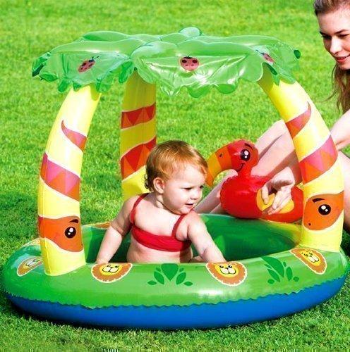Bestway Dschungel Inflatable Schwimmen Kinderplanschbecken UV Sonnenschirm Zelt UPF50+ - Dschungel-palme