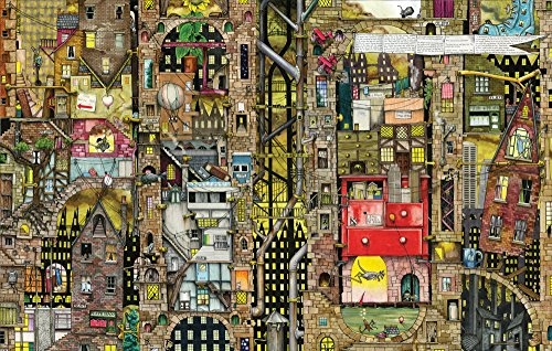 Preisvergleich Produktbild Schmidt Spiele Puzzle 59355 Puzzle 1.000 Teile, Colin Thompson, Fantastisches Stadtbild