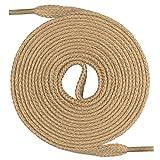 Mount Swiss Lacets plats, qualité premium 100% coton, indéchirables beige 90 cm