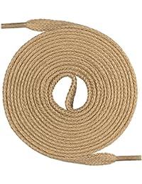 Mount Swiss© Premium Lacets, 1paire de lacets Plate en 100% coton, indéchirable, Largeur 7mm, longueur 45–200cm