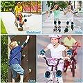 Jooheli Knieschoner Kinder, 6 Stück Kinder Knieschoner Set, Knieschützer Kinder Schutzausrüstung Set Ellenbogenschoner Handgelenkschoner Knieschoner für Skateboard Roller Radfahren Scooter