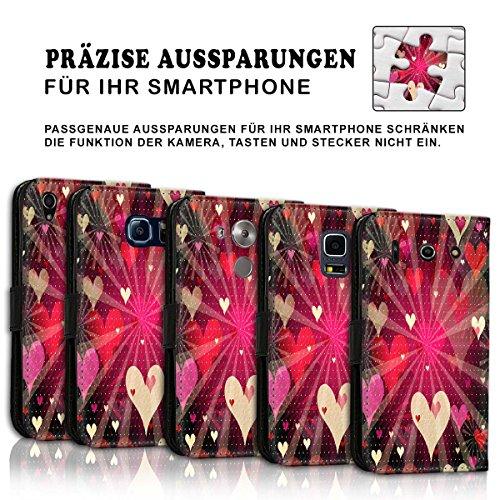 Wallet Book Style Flip Handy Tasche Case Schutz Hülle Schale Motiv Etui für Apple iPhone 6 / 6S - Variante UMV27 Design8 Design 1