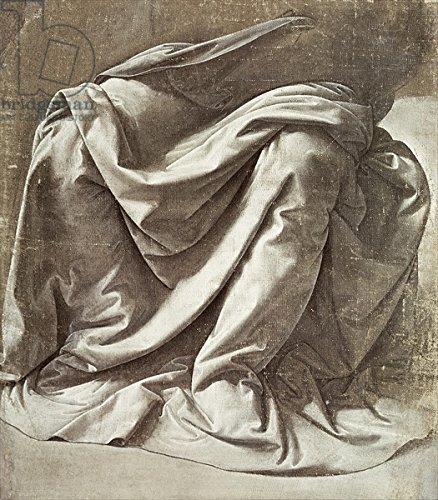 "Leinwand-Bild 20 x 20 cm: ""Drapery study for a Seated Figure, c.1475-80 (canvas)"", Bild auf Leinwand"