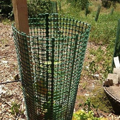 5er Pack Treeguard Layflat, 1.2m, für Ø 30cm, grün, Baumschutz Flachgitter zum Fege- und Verbisschutz von Tubex - Du und dein Garten