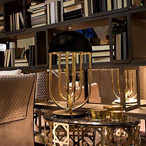 lampada da tavolo di ferro battuto moderno e semplice/Vogue postmoderno camera da letto lampada da comodino/ soggiorno studio lampada-B