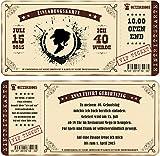 Einladungskarten zum Geburtstag als mit Abriss-Coupon im Country Style, Cowgirl 60 Stück