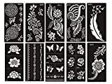 Aktion! Tattoo Schablonen 10 Sheets Set