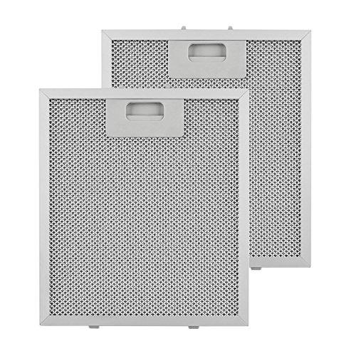 Klarstein Aluminium-Fettfilter • Austauschfilter • Ersatzfilter • 2 x Filter • Klickverschluss • 23 x 26 x 0,9 cm • ca. 145 g • abwaschbar • Aluminium • für Klarstein Dunstabzugshauben • silber