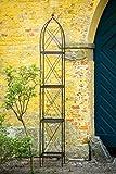 kuheiga Rankgerüst Rankhilfe aus Metall H: 230cm, Breite: 34cm Rankturm Obelisk