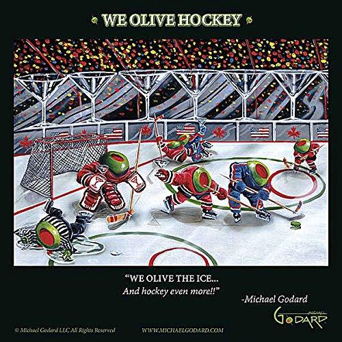 Wir Olive Hockey Michael Godard Humor Funny Sport Cocktail Fantasy Print Poster 30,5x 30,5 (Michael Artwork Godard)