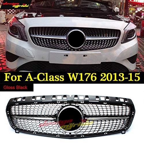 FidgetKute W176 Rejilla de Diamante para Mercedes Benz Clase A A180 A200 A250 Parrilla Delantera 13-15