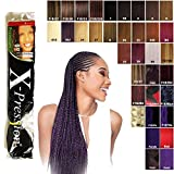 X-pression Premium Original Ultra Braids - 85 Inch in colour 99J (dark red-purple)