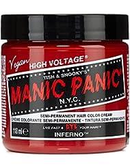 manic panic classic pot de 118ml coloration semi permanente vibrante inferno red rouge - Coloration Semi Permanente Rouge