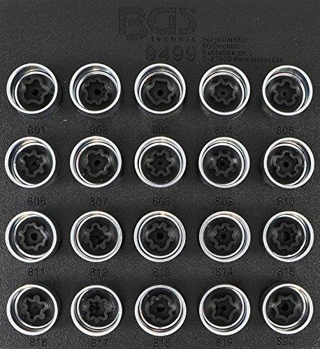 Bgs 9499 Jante Serrure de Kit d'outils pour Audi | 20 pièces