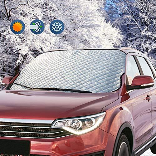 ZOTO Frontscheibe Auto Windschutzscheibe Frontscheibenabdeckung Sonnenschutz Scheibenabdeckung UV-Schutz Abdeckung Sonnenblende, Schnee, EIS, Frost