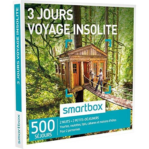 SMARTBOX - Coffret Cadeau - 3 JOURS - VOYAGE INSOLITE - 500 séjours : yourtes, roulottes, tipis, cabanes et maisons d'hôtes