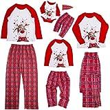 Kinder-Outfit-Sets bedruckt kariert lang/ärmelig Vater Wanshop Weihnachts-Familien-Pyjama-Set Hose Mutter
