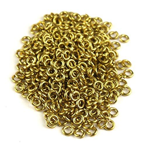 MS 200pcs 1 / 4in Goldene Farbe Kupfer JUMP RINGS SAW Ketten Kettenhemd CUT TO331 -