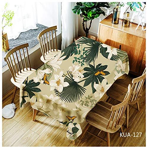 QWEASDZX Tischdecke Einfacher und moderner Polyester Digitaldruck Dekorative Tischdecke Staubverschmutzung Rechteckige Tischdecke Geeignet für den Innen- und Außenbereich 150x260cm