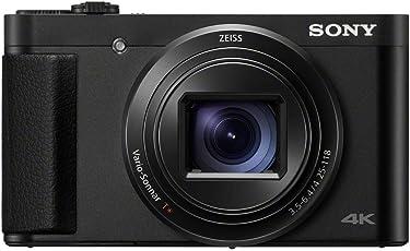 Sony DSC-HX95 Kompaktkamera (7,5 cm (3 Zoll) Display, 24-720mm Brennweite, 5-Achsen Bildstabilisator, 4K Video, Augen-Autofokus) schwarz