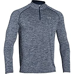 Under Armour UA Tech 1/4 Zip, Sudadera para Hombre, Azul (Midnight Navy Heather), M
