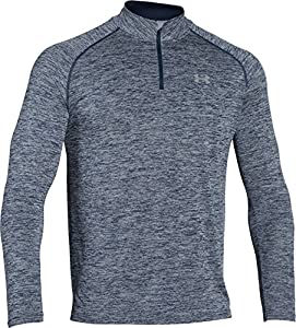 Under Armour Herren Fitness Sweatshirt UA Tech 1/4 Zip, Blau (Midnight Navy Heather), L, 1242220-411