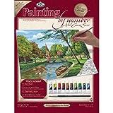 Royal & Langnickel - Juego de pintura guiada por números (28 x 35cm), diseño de iglesia junto al río