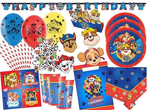 atrol Partyset 75-TLG. - Party-Set Komplettset für 8 Kinder - Teller Becher Servietten Tüten Masken Konfetti usw. ()