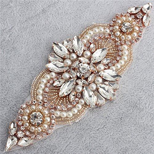 Kleine Strass und Perle Applique für Hochzeitskleid Gürtel und Schärpe Kopfstück Strumpfbänder...