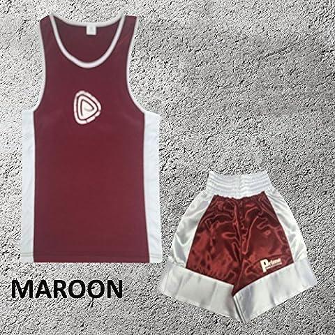 Uniforme de de boxeo para niños - Conjunto de 2 piezas (Camiseta y pantalones cortos) - Para niños de 3 a 14 años - 9 - 10 años,