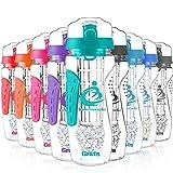 grsta Best Fruit-Ei Wasser Flasche Trinkflasche–1000ml/900ml–Design Gel Gefrierschrank Infusion Stange–Lecksichere Deckel. Klicken Sie auf öffnen–ungiftig & BPA-freies Tritan CO Polyester Kunststoff, mintgrün