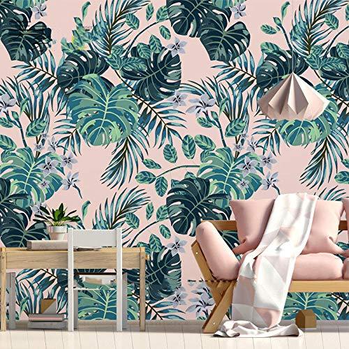 YCRY - Fototapete - Tapete Wegerich Pflanze, Blume, Regenwald-200x140cm - Moderne Wanddeko - Design Tapete - Wandtapete - Wand Dekoration