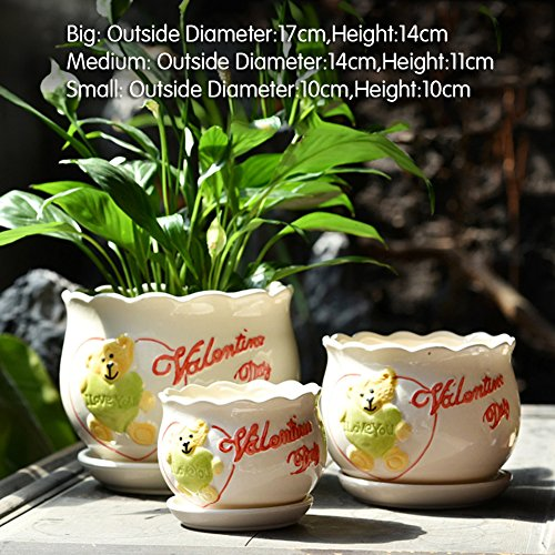 Nclon Dekorative Design Keramikplatten Pflanze Blume Pflanzer Töpfe,Wunderbar Geschenk Für...