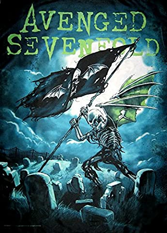 Avenged Sevenfold Cemetery Official New Black Textile Flag Poster 75cm x 110cm